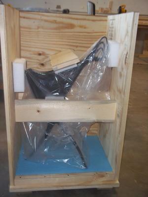 Sculpture in crate